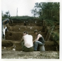 Castle Hill stepped excavation trench