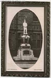 Earlestown War memorial – unveiled by Lord Newton.