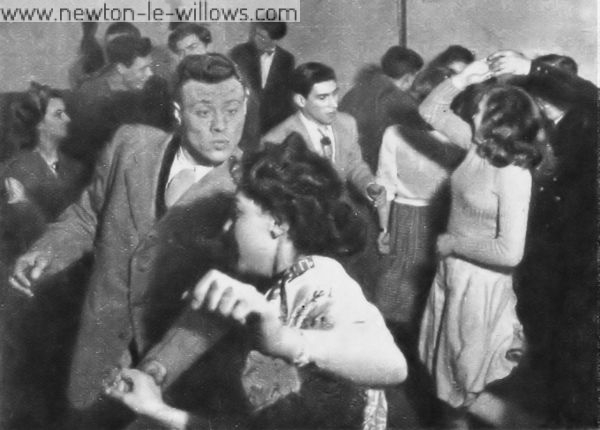 An Evening in a Dance Club. The Broadway Dance Club is only a long, low-ceilinged third-floor room. No drinks are served, but many G.I.s and local girls enjoy themselves here.
