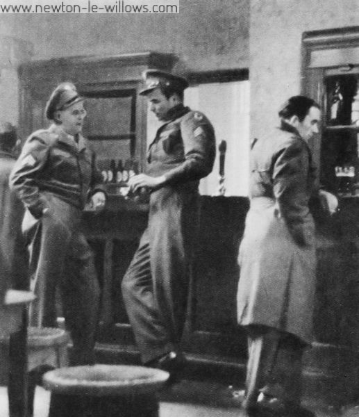 The British Are Stand-Offish. Few of the male civilian population of Warrington mix with Americans. The sergeant thinks the man in the mackintosh stand-offish. The man in the mackintosh knows men who keep a wife and two kids on half what some sergeants spend on beer.