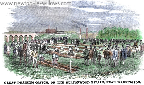 Burtonwood: Agricultural Draining Match – 1853