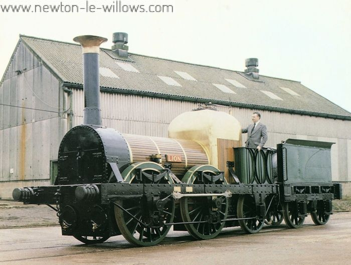 Lion, as fully restored by Ruston Diesels Ltd, and seen at Vulcan Works in late February 1980. Ruston Diesels Ltd