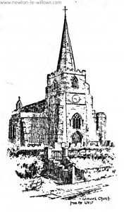 Winwick Church from the west
