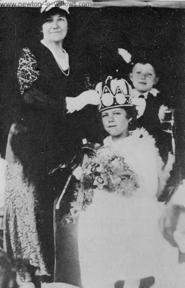 Crowning of the village Dahlia Queen. Date unknown.