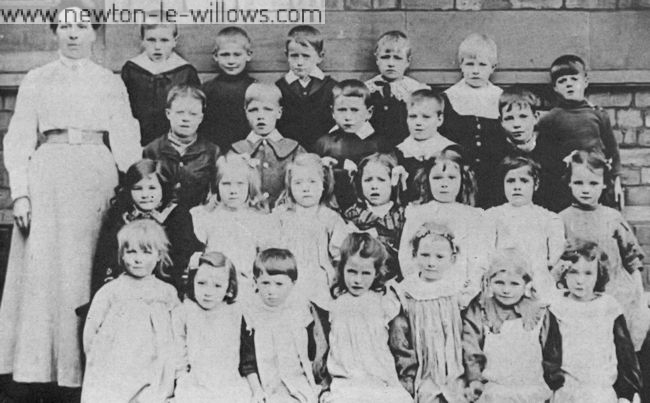 Schooldays remembered! Date unknown, probably of the village school in the early 1900's, but it should jog a few memories.