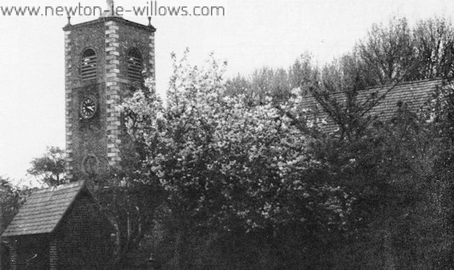 St. Michael's Church, Burtonwood. 1975.